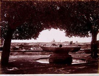 Villa Medici - The fountain in the 19th century