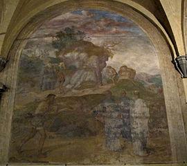 Saint Philip heals a leper