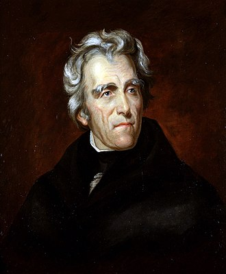 Jacksonian democracy - Portrait of Andrew Jackson by Thomas Sully in 1824