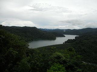 Angat Dam dam in Barangay San Lorenzo, Norzagaray, Bulacan, Philippines