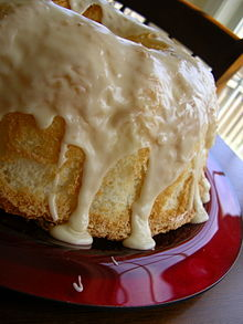 An angel food cake