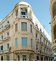 Angle de l'immeuble, 40 rue Oum Kalthoum, Tunis, septembre 2013.jpg
