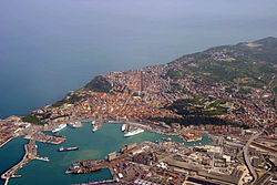 Aerial view of Ancona