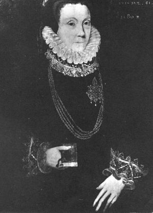 Anne Bacon - Portrait of Lady Anne Cooke, 1580. Attributed to George Gower.