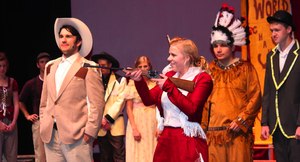 "Fort Worth Christian School - Students performing Irving Berlin's ""Annie Get Your Gun"" at the Fort Worth Community Arts Center."