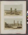 Ansicht der Tempelruinen von Ben-Naga; Ansicht der Ruinen von Mesaurât E' Sofra (Musawwarat al-Sufrah Site) (NYPL b14291191-38000).tiff