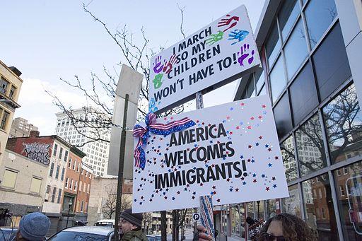 Anti Trump immigration protest in Baltimore DSC 6867 (32445440142)