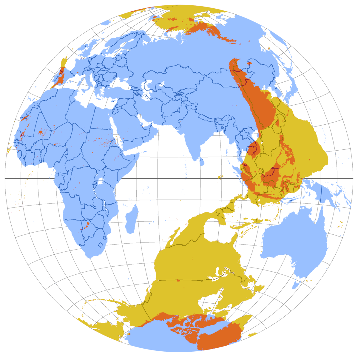 Antipodes Wikipedia - Globe map of the world