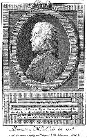 Antoine Louis - Professor Antoine Louis in 1778