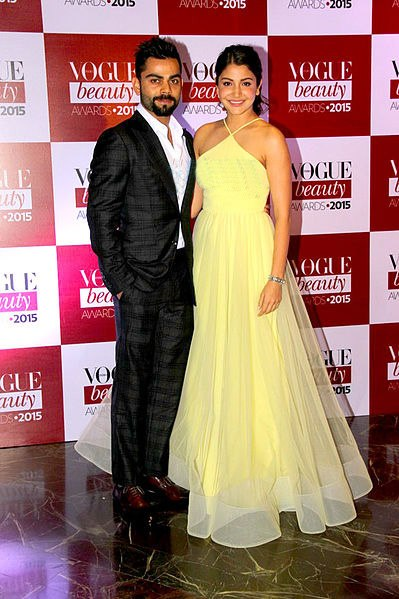 Anushka Sharma and Virat Kohli at Vogue Beauty Awards