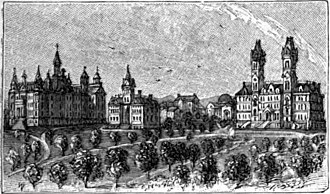 Vanderbilt University - Drawing of Vanderbilt University's Main Campus from Appletons' Cyclopedia of American Biography (1889)