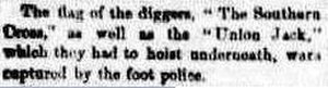 Eureka Flag - Extract of Argus report 4 December 1854