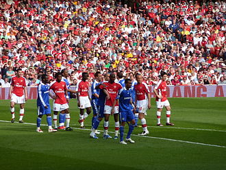 Arsenal F.C.–Chelsea F.C. rivalry - Arsenal and Chelsea players prepare for a corner kick during a Premier League match on 10 May 2009.