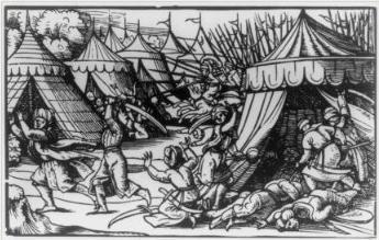 Assault on Turkish encampment