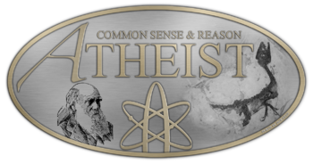 English: Atheist Badge: The design of the A-le...