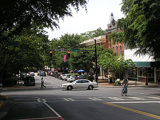 Athens, Georgia - Downtown Athens at the intersection of Clayton St. and College Avenue