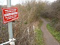 Attenborough Nature Reserve Path with warning - geograph.org.uk - 1099462.jpg