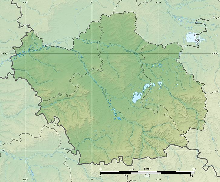 Fichier:Aube department relief location map.jpg