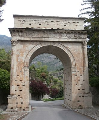 Susa Valley - Susa's Arch of Augustus.