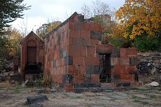 The remains of Surp Hovhannes Chapel, dating back to the 12-13th centuries Avan, Hovhannes-chapel1.jpg