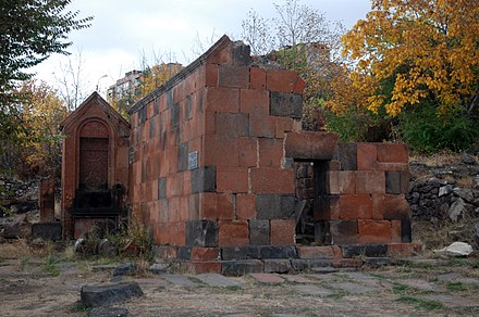 The remains of Surp Hovhannes Chapel, dating back to the 12–13th centuries