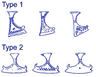 Perun - Drawings of Slavic axe amulets based on archaeological findings dating between the 11th and 12th century