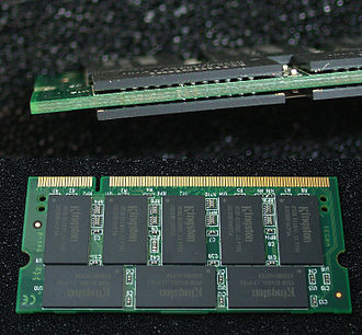 Ball grid array - BGA ICs assembled on a RAM stick