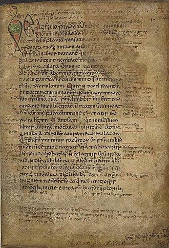 Gospels of Máel Brigte - Image: BL Harley 1802fol 001r