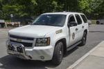 A white fire chief's car