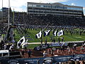 BYU Entering Field, Nevada Wolf Pack vs. Brigham Young Cougars, Mackay Stadium, University of Nevada, Reno, Nevada (11142288703).jpg