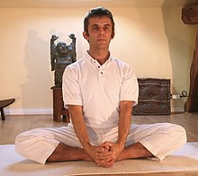 Bound Angle Posture Yoga Color Page