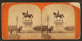 Ball's statue of Gen. Washington, Public Garden (side view), by C. A. Beckford 2.png