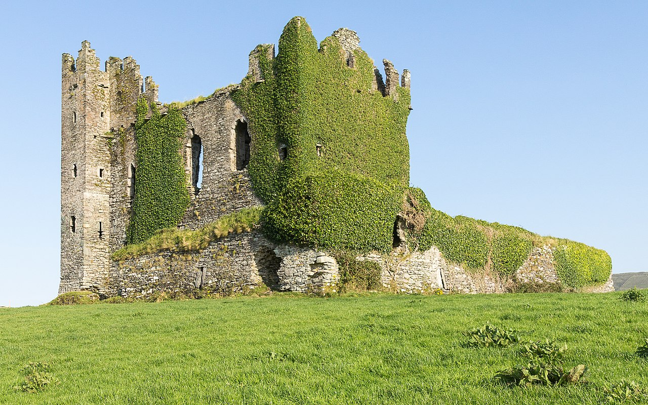Ivy covered on Ballycarbury castle