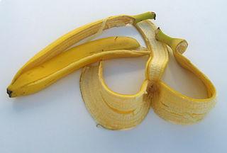 Bananskal.