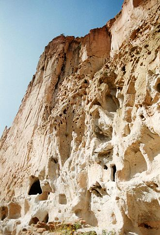 Tuff - Welded tuff from Bandelier National Monument, New Mexico