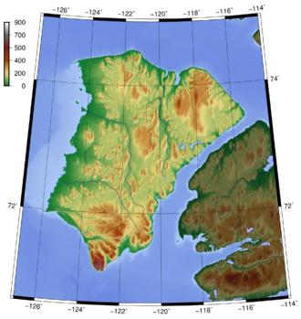 Banks Island - Topography of Banks Island