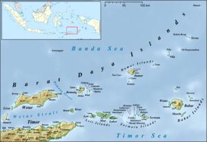Damar Island - Map of the Barat Daya Islands