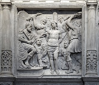 Eulalia of Barcelona - Relief of Eulalia in the Cathedral of Santa Eulalia.