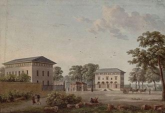 Place d'Italie (Paris Métro) - The old Barrière d'Italie in 1819