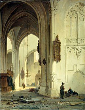 Bartholomeus van Hove - Image: Bartholomeus Johannes van Hove, Kerkinterieur