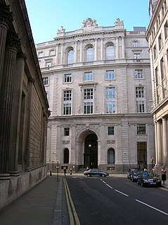 Bartholomew Lane street in the City of London