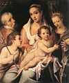 Bartolomeo Passerotti - Holy Family with the Infant St John the Baptist and St Catherine of Alexandria - WGA17074.jpg