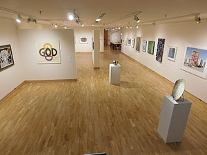 Bates College Museum of Art - Main floor of the gallery