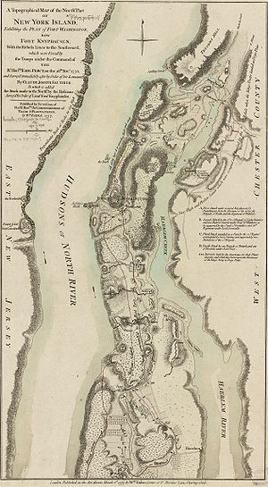 Battle of Fort Washington - Battle map