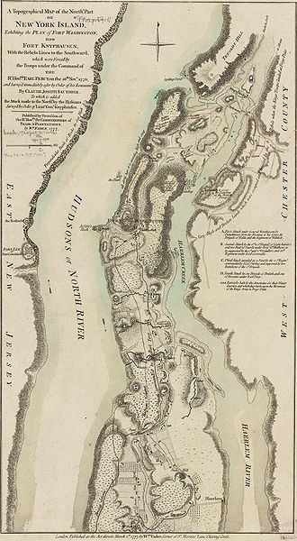 Battle Of Fort Washington Map