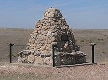 Battle Canyon (Scott Co KS) monument 2.JPG