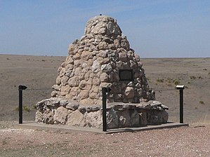 Monument at Battle Canyon, site of the Battle of Punished Woman's Fork during the Northern Cheyenne Exodus of 1878