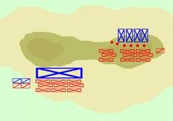 Animation de la bataille.
