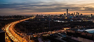 Chaoyang District, Beijing - Chaoyang at dusk