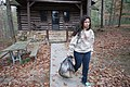 Being a good steward at cabin 2 Douthat State Park, taking out the trash - teenager (38904918034).jpg